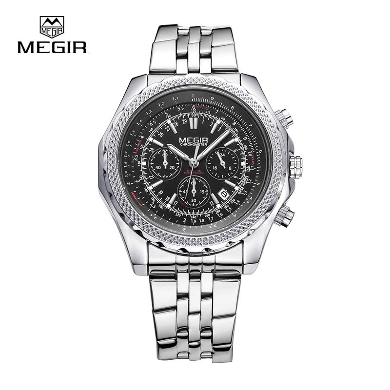 mens talking watches promotion shop for promotional mens talking megir quartz watch for man fashion business watches men waterproof luminous wristwatch multifunction 2006