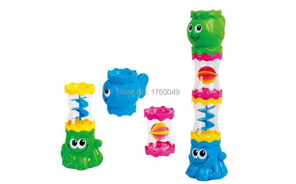 Bath Fun Playset Child Bath Toys Glass Rotary Water Tube Beach Toys Free Shipping(China (Mainland))