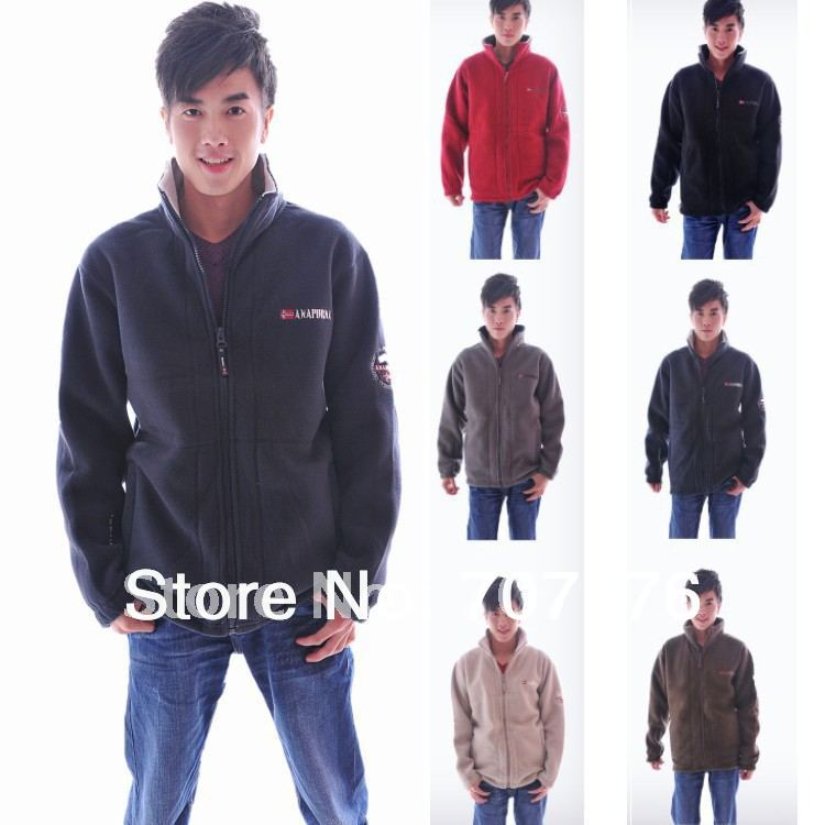 Autumn And Winter Mens Polar Fleece Fabric Thickening Jacket outdoor Casual
