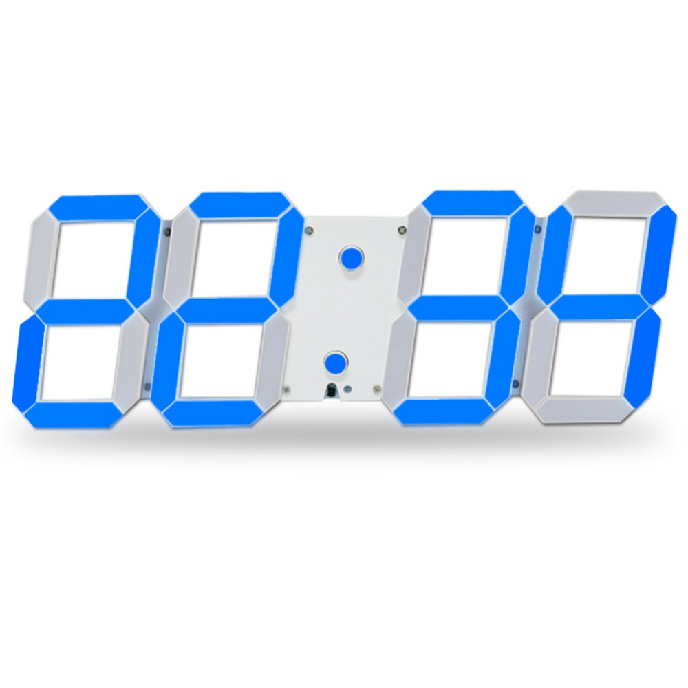 Modern Large 3D Design Digital Led Wall Clock 24 or 12-Hour Temperature Display Alarm Clock With Remote Control For Office Squre