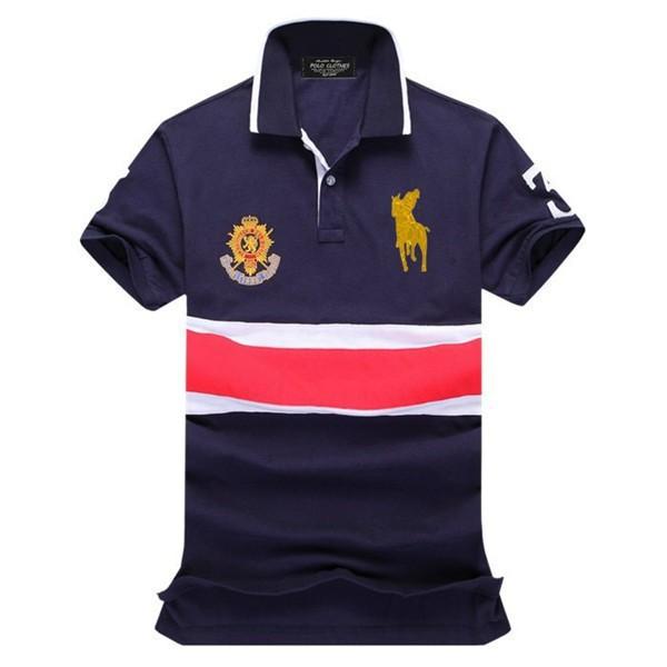2015 fashion good quality 100 cotton brand logo men 39 s for Quality polo shirts with company logo