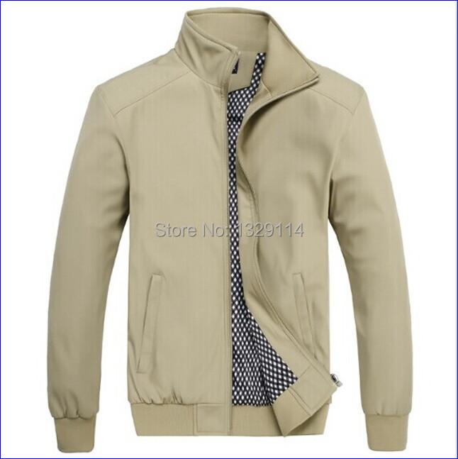 Free shipping M-XXXXXXL Spring Jaqueta Mandarin collar Big size Jacket for men 2015 MZ-1514(China (Mainland))