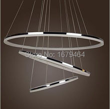 LED Ring 2015 Modern Simple Design Mini Pendant Living LED Three Ring  Free Shipping(China (Mainland))