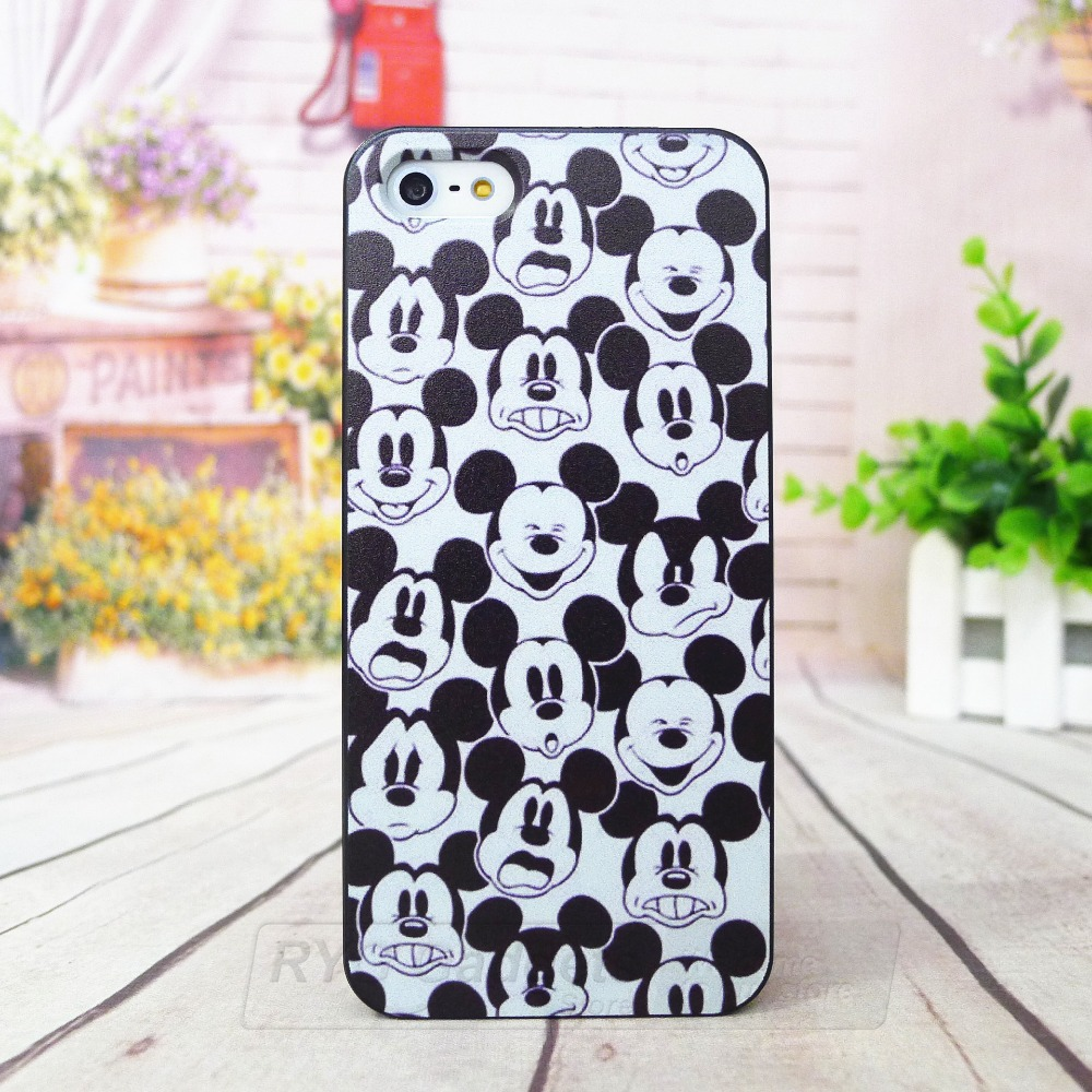 Beauty Mickey Head Custom Fashion Hard Plastic Case Cover For Apple iphone 4/4s 5/5s 5c 6 4.7 inch and 6 plus(China (Mainland))