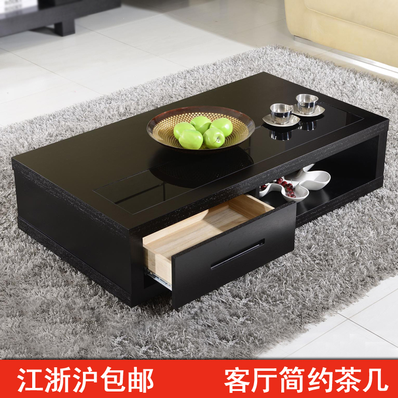 Coffee black oak coffee table TV cabinet drawer combination package 806 small apartment modern minimalist fashion casual(China (Mainland))