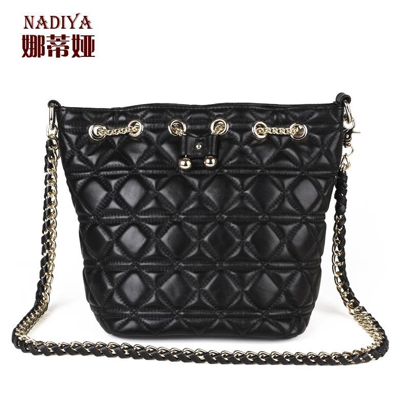 UniCalling female handbagsNadia new trend of European and American style sheepskin bucket bag handbag Messenger shoulder Acting<br><br>Aliexpress