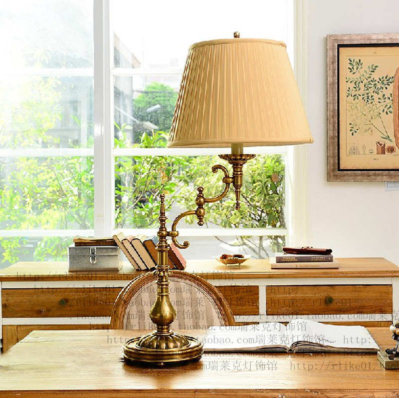Wall Lamp Shades For Living Room : Decorative brass lamps with shade, brass desk lamps for living room-in LED Indoor Wall Lamps ...