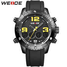 WEIDE Men Wristwatches Famous Brand Quality Stainless Steel Band Multi-Function Analog Digital Design Suitable For Outdoor Sport(China (Mainland))