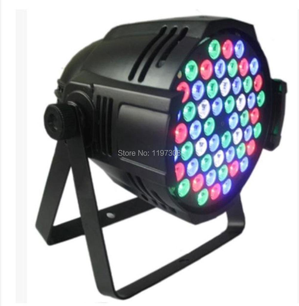54PCS profile 3W RGBW LED PAR light wall washer double yoke DMX512 stage lighting event live discotheque iluminacion dj light(China (Mainland))