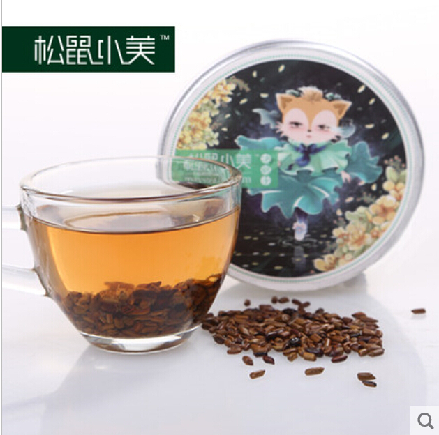 China's bright eye lowering YouYa definitely drink herbal tea cooked cassia seed tea new 50 g canned goods(China (Mainland))