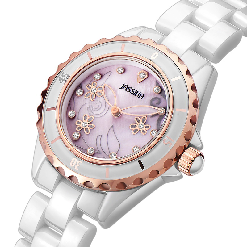Jessica genuine female earth ceramic watches female table fashion diamond ceramic table fashionable female table quartz YC731Q<br><br>Aliexpress