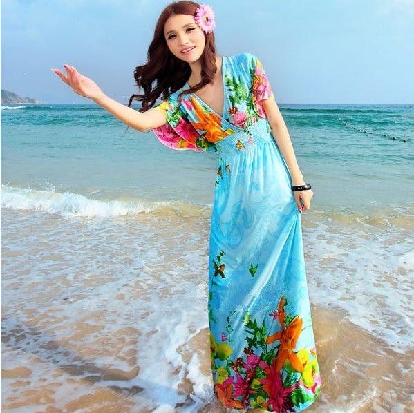 Женские модные летние платья макси