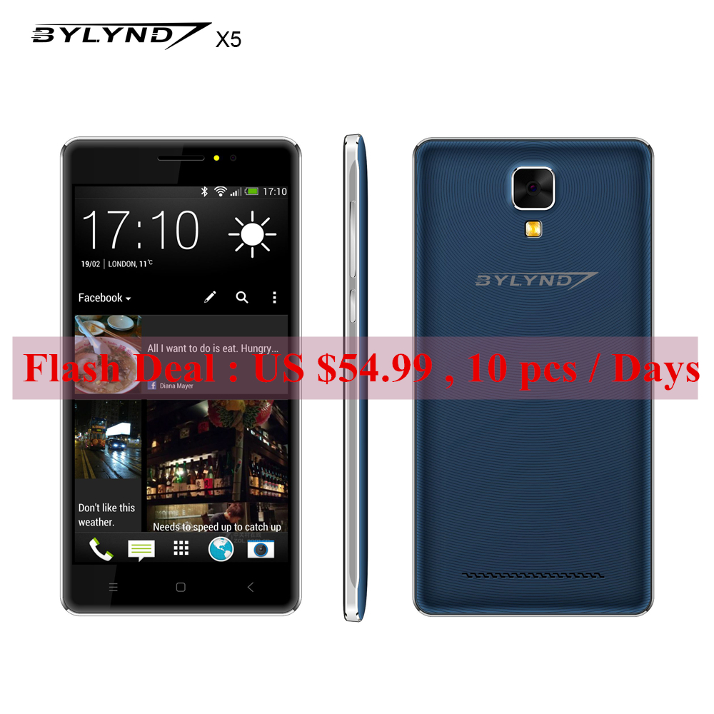 Original BYLYND X5 android 5.1 GPS phone MTK6580 1G ram 8G rom 5.0 inch smartphones Dual SIM Dual Flash 8mp mobile phone(China (Mainland))