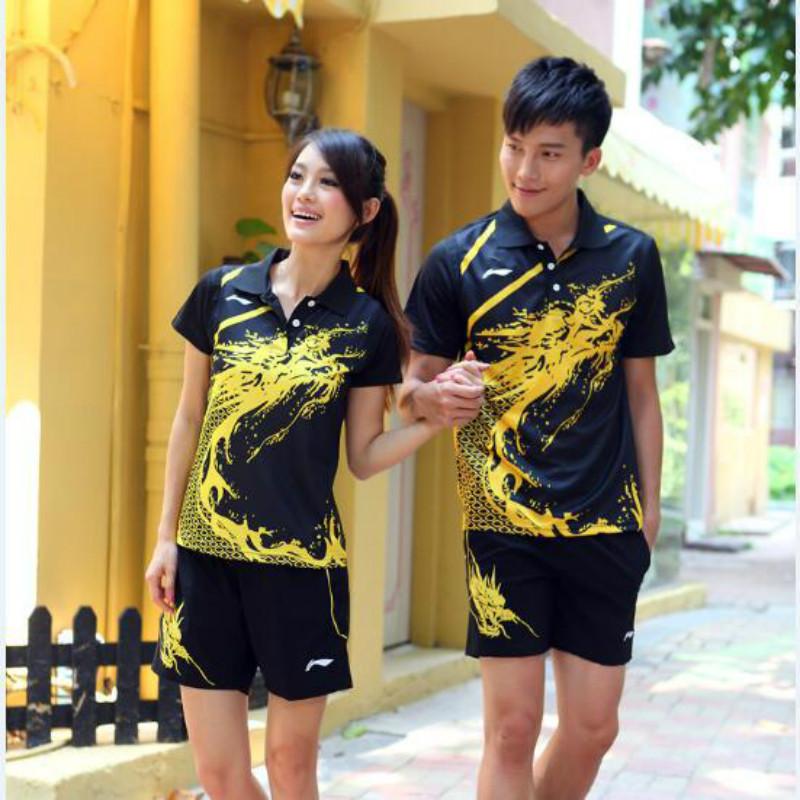 HOT CAKE LN New China Table Tennis Team Shirts, Women'S / Men'S Tennis Shirts, Table Tennis Shirt, Zhang Jike, Ma Long Dingning(China (Mainland))