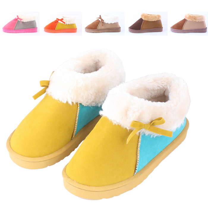 Lovers Cotton Padded Shoes Women Boots Home Winter Warm Slippers Women Men Bedroom Slippers At