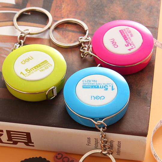 1pcs (Random Colors) 1.5m Mini Tape Measure Cute Candy Colored Mini Effective Stationery Tape Measurements Soft Feet