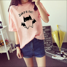 2015 Women's Summer T-Shirt Clothes Shirt O-neck Lovely Bat Printed 3 Colors Short Tops Free Shipping