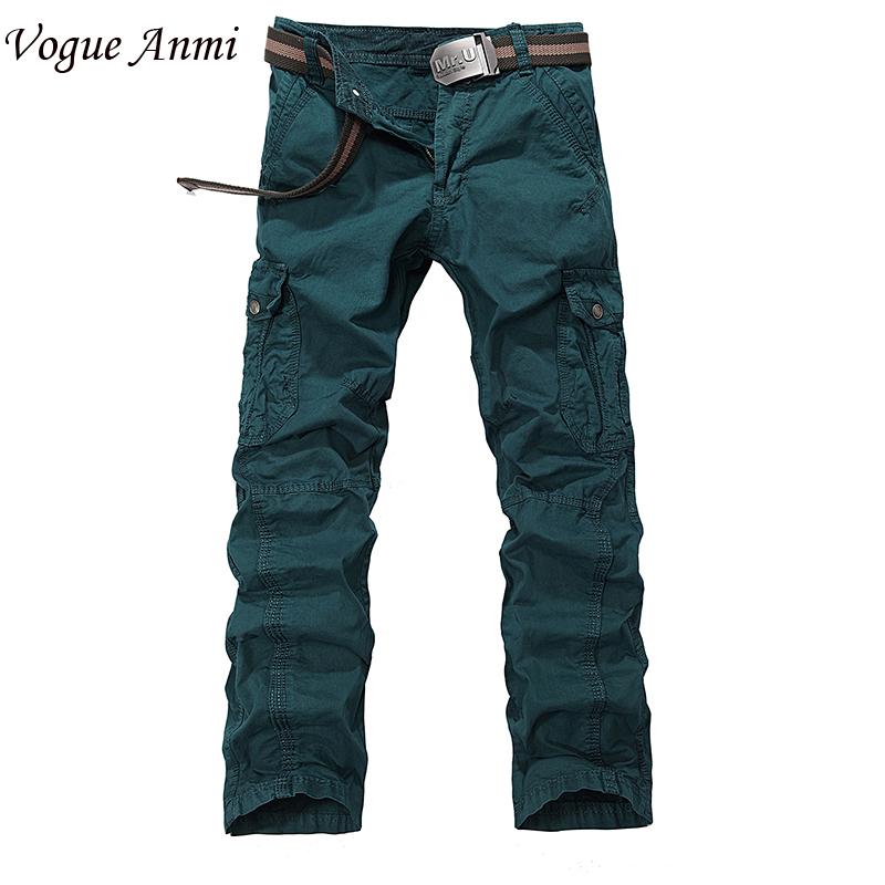 Men's CASUAL WINTER CARGO WORK PANTS multi pockets Trousers Combat pants 4 colors Big Size 30-38 - Shop515789 Store store