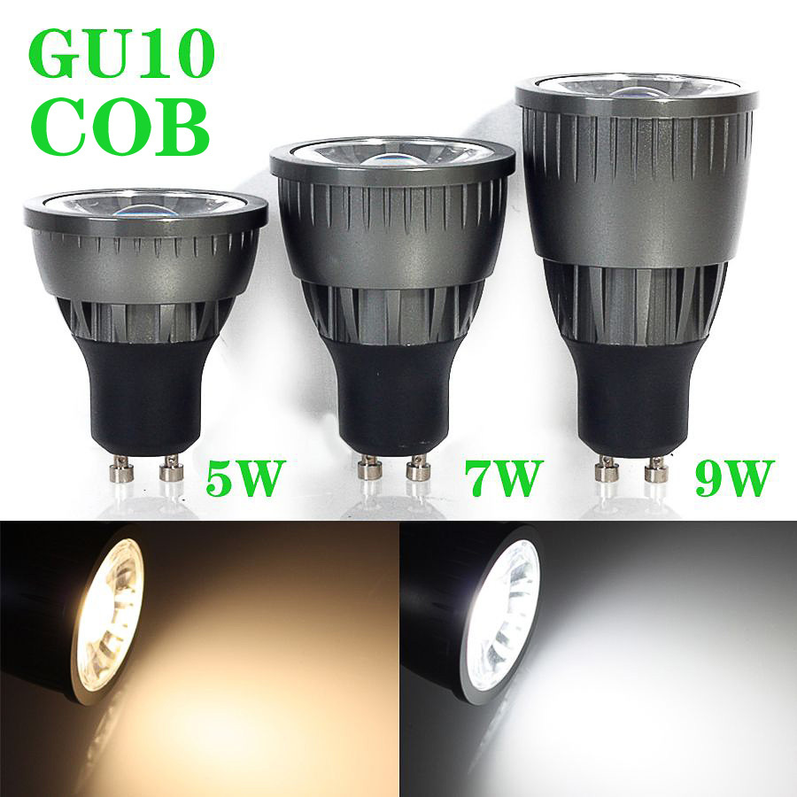 GU10 5W/7W/9W dimmable COB LED Spot Light Cool White/Warm White High Brightness AC85-265V lamp Lighting Epistar - XinJia store