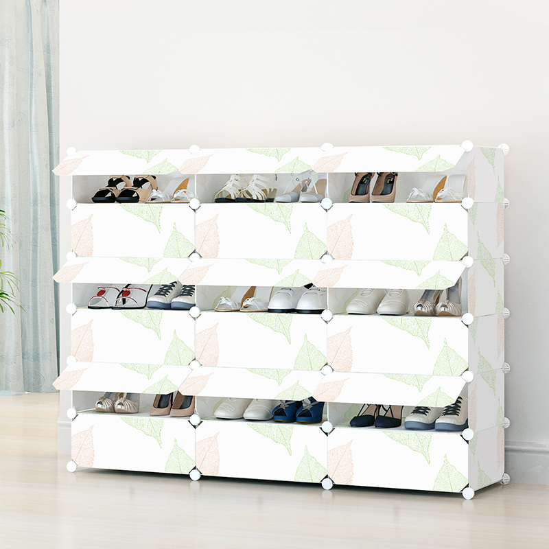 Simple shoe rack simple multi-layer plastic dust- assembled multi-function folding home storage cabinets(China (Mainland))