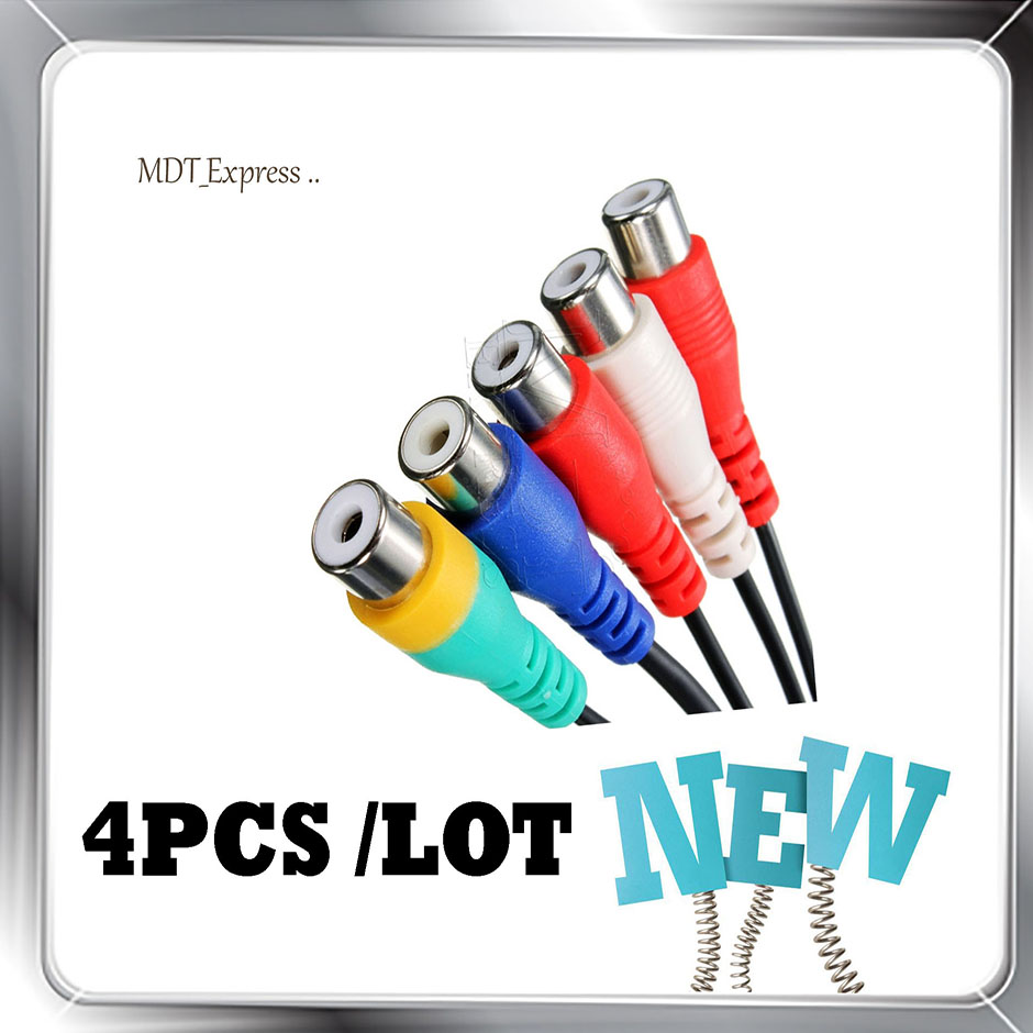 New! 4pcs/Lot ORIGINAL/Genuine BN39-01154W BN3901154W BN39 01154W Audio Video AV Component Adapter Cable for Samsung LED TV`S(China (Mainland))