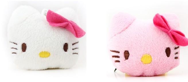 10PCS Mini Plush Stuffed TOY 4CM Hello Kitty DOLL Phone Strap Pendant Charm Chain DOLL Wedding Bouquet Mini DOLL TOY(China (Mainland))