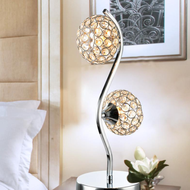 led lamp modern minimalist fashion creative bedside table lamp K9 crystal ornaments crystal lamp living room bedroom den(China (Mainland))