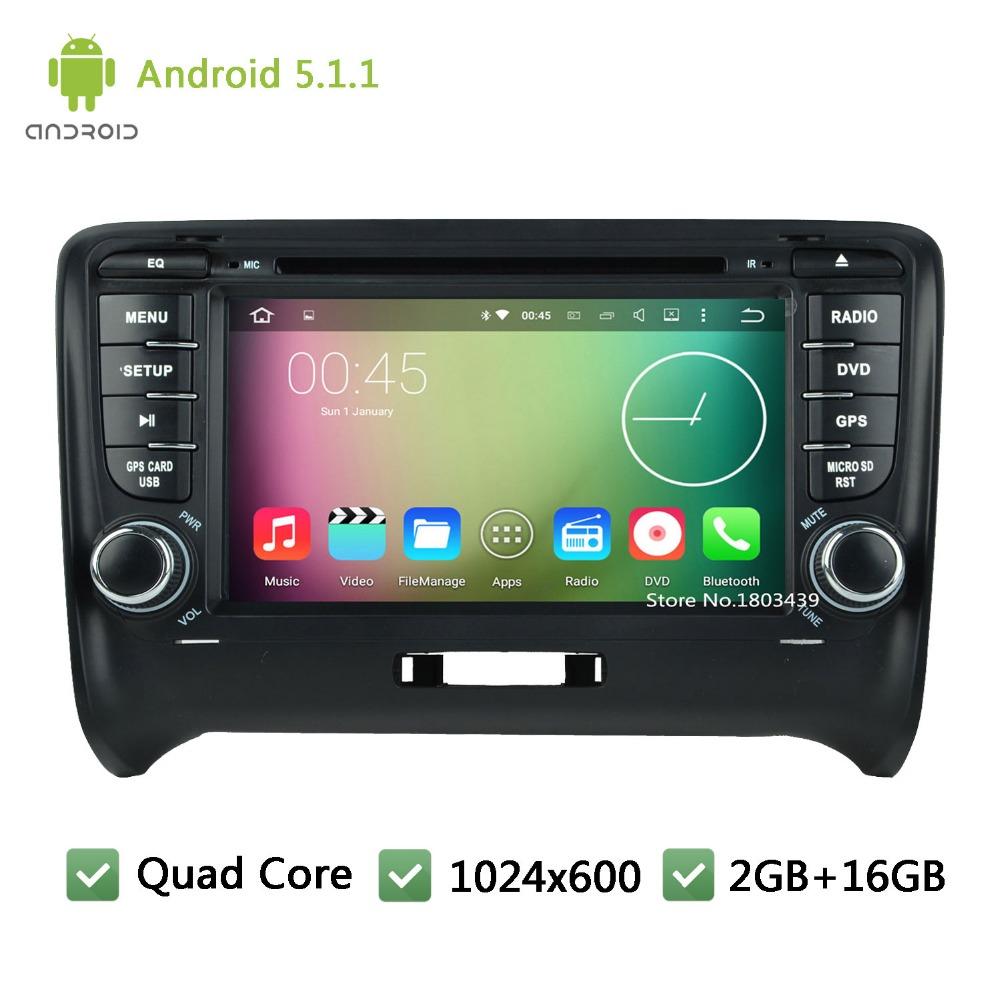 2Din Quad Core 16GB 3G BT FM DAB USB Android 5 1 1 HD 1024 600
