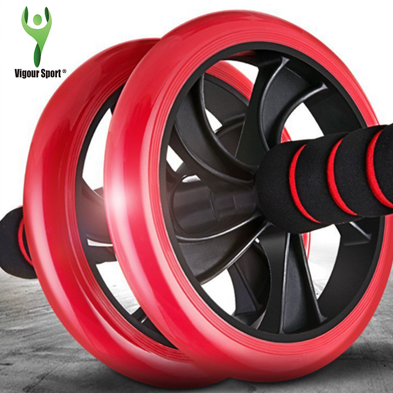 2016 new Brand No Noise Red Abdominal Wheel Ab Roller With Mat For Exercise Fitness Plastic Equipment Free Shipping(China (Mainland))