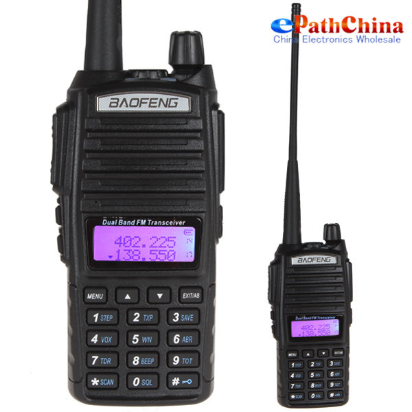 2PCS NEW ! Long Range Baofeng UV-82 Dual Band VHF 136 - 174MHz / UHF 400 - 520 MHz FM Transceiver Walkie Talkie Two Way Radio(China (Mainland))