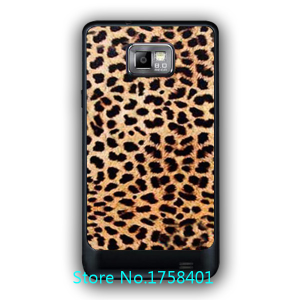 LHL Free shipping designed Leopard style Cover case for samsung galaxy s2 I9100 durable plastic phone case-lx993(China (Mainland))
