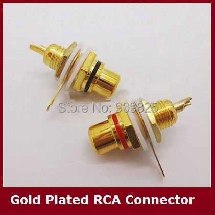 Free shipping 10pcs RCA Female Jack 10pcs Plated Rca Connector Gold Panel Mount Chassis Audio Socket Plug <br><br>Aliexpress