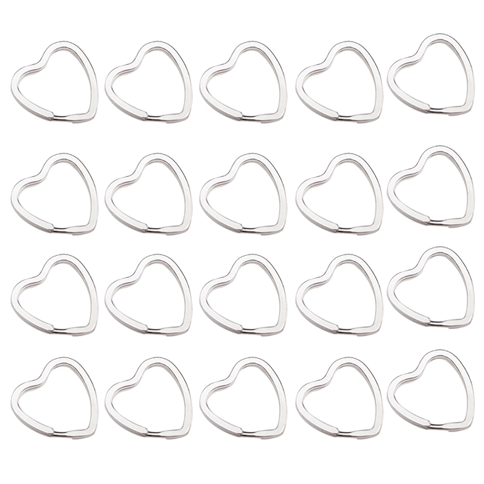 VSEN 20Pcs Heart-Shaped Split Rings Key Rings<br><br>Aliexpress