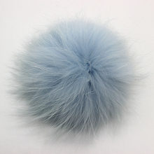 5 pçs/lote DIY 13-14 15-16 centímetros De Pele De Guaxinim pompons bolas de pêlo de malha gorros cap chapéu e chaveiro e cachecóis pompons pele real(China)