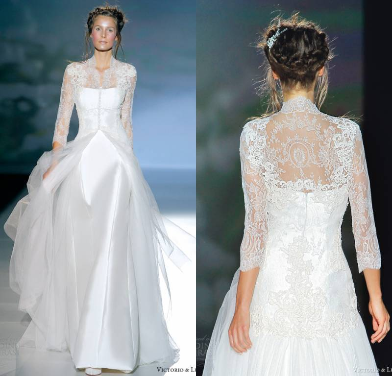 2014 long sleeves winter wedding dresses sheath lace see for Backless wedding dresses with sleeves