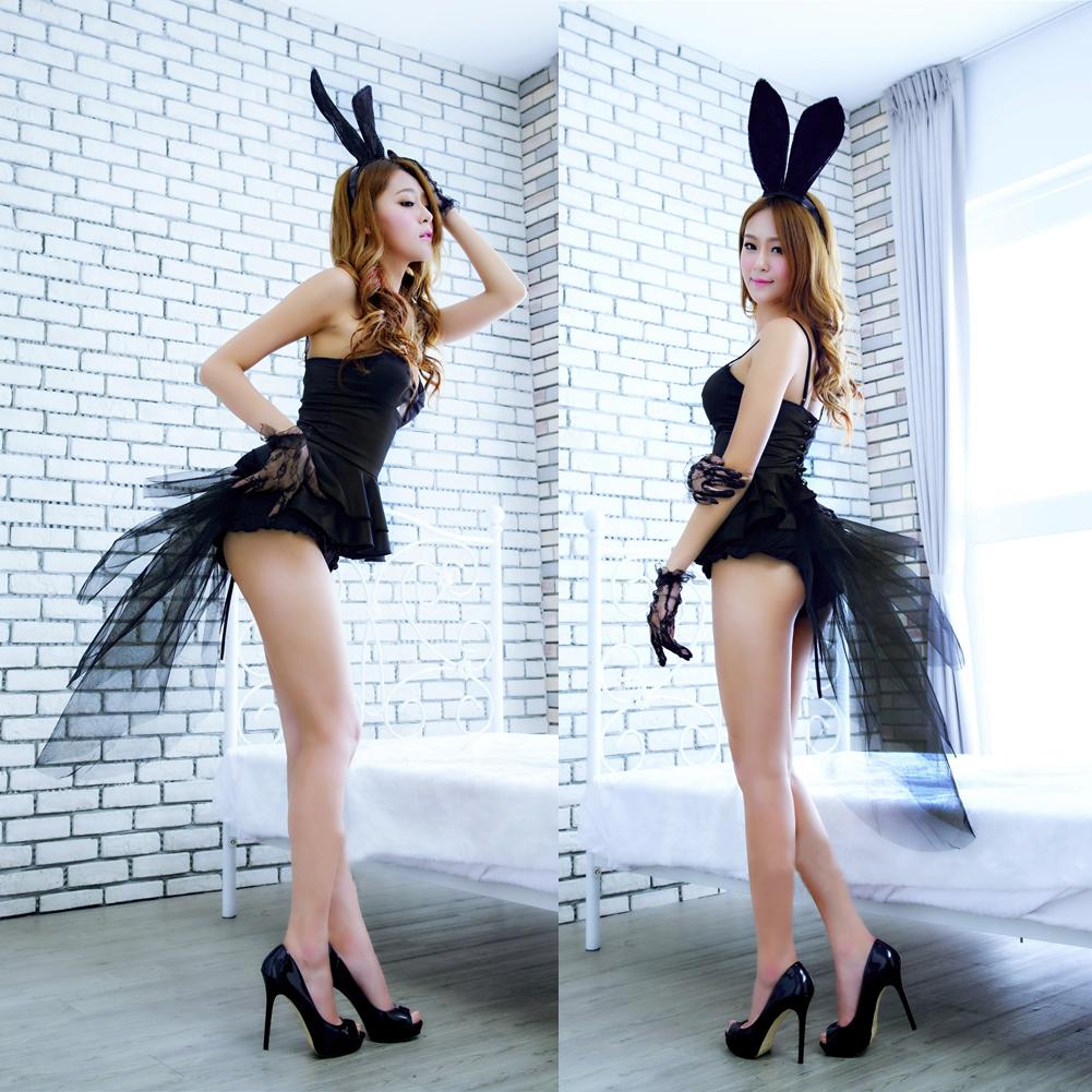 2016 New Arrival Sexy Babydoll Teddy Lady Rabbit Bunny Halloween Cosplay Costume Fancy Dress lb SL(China (Mainland))