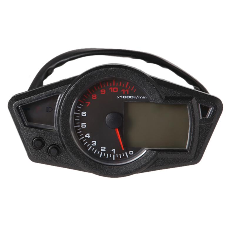 R1B1 11K RPM LCD Backlight Digital Odometer Speedometer Tachometer Motorcycle Free Shipping