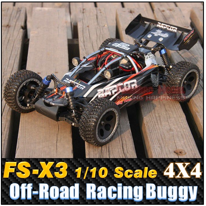 FS- X3 1/10 Scale Electric Power 4WD High speed Off-Road Racing Buggy , Rc car Remote Control Car(China (Mainland))