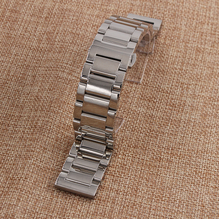 NEW 18mm 20mm 20mm 21mm 22mm 24mm 26mm Polished Solid Link 316L Stainless Steel Watch Bracelet Butterfly Buckle<br><br>Aliexpress
