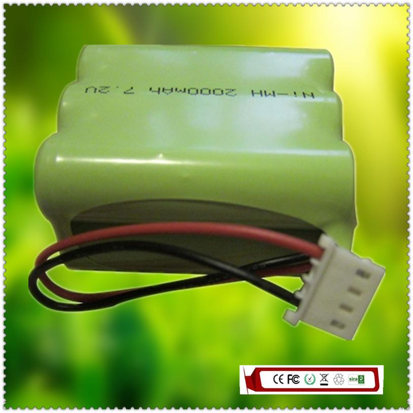7.2V 2000mAh NI-MH Replacement Battery for iRobot Braava 320 321 & Mint 4200 4205 Floor Cleaner Robot CSDM6780VX, GPHC152M07(China (Mainland))