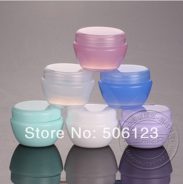 -20G Cream Jar,Empty Cosmetic Mask Sub-bottling Screw Cap,Small Cannister,Plastic Makeup Container,3 - bottle's home 506123 store