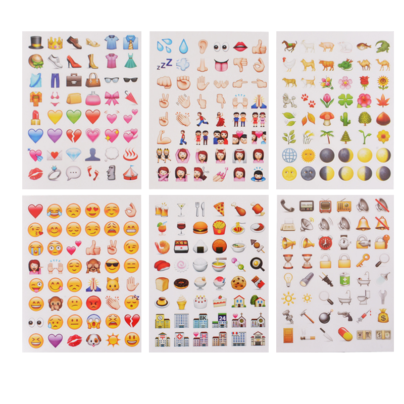 1Set 900+ Emoji Emotions Scrapbooking Stickers Paper DIY Crafts Tiny Popular Mobile Phone Wholesale Sets Expression 14.5x10.5cm(China (Mainland))