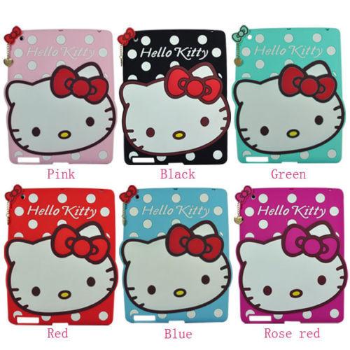 Cute Cartoon 3D Hello Kitty Soft Silicone Cover Case Fr iPad Mini/Mini2 Kid Gift Screen protector &pen 1pc - feiyang store