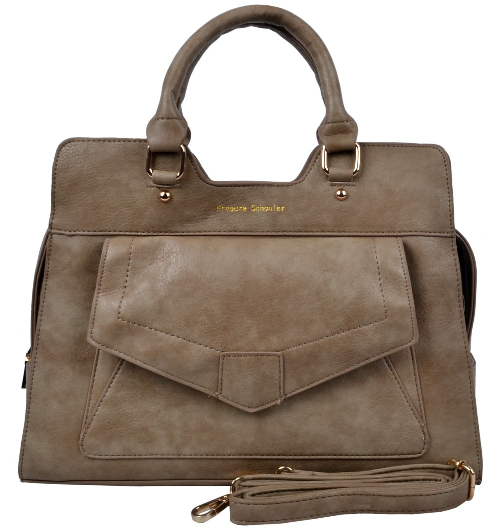 VN 2016 Khaki PU Leather Women Handbags Fashion Women Messenger Bags Vintage Envelope Briefcase Ladies Handbags Tote Bags(China (Mainland))