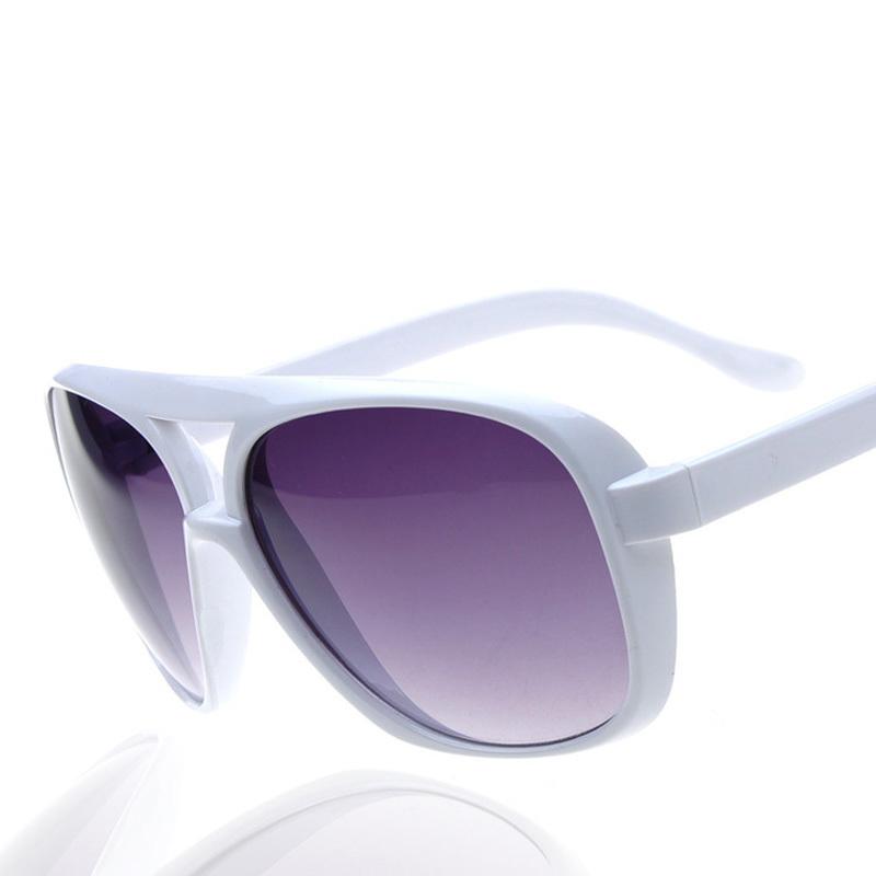 2015 Luxury Mans Sunglasses High Brand Retro Full Frame Plastic Sunglasses White Men Large Glasses Couples Style(China (Mainland))