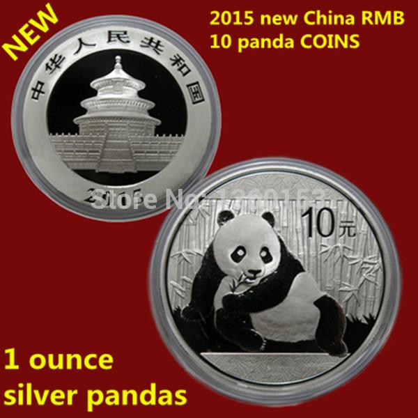 New arrival ! 2015 year 1oz 10 yuan silver panda coin/chinese panda copy coins free shipping(China (Mainland))