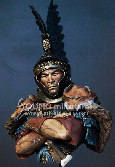 Free Shipping 1/10 Scale Resin Cast Kit Roman cavalry officer Resin Garage Kits(China (Mainland))