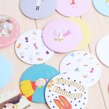 Cartoon Cute Portable Small Mirror Make Up Compact Mirror Cosmetic Mirror Tinplate Decor 7cmx7cm D45(China (Mainland))