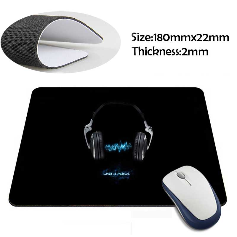 live for music Anti-Slip Laptop PC Mice Pad Mat(China (Mainland))