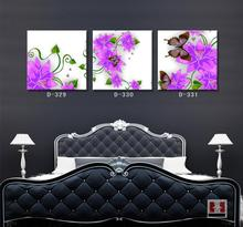 Modern Decorative Wall Painting Photos Room Mural Print Art Picture Purple Flower Vine Canvas Painting Wall Decal No Frame(China (Mainland))